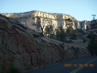 374 6cw. Zion National Park - driving on the road