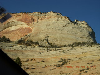 378 6cw. Zion National Park - driving on the road