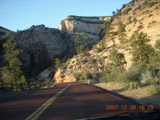 403 6cw. Zion National Park - driving on the road