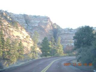 405 6cw. Zion National Park - driving on the road