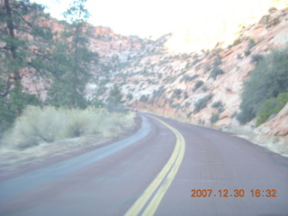 410 6cw. Zion National Park - driving on the road