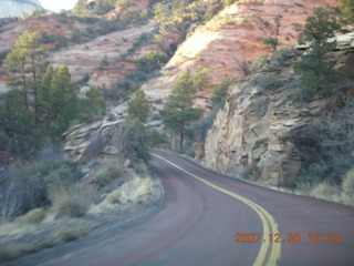 413 6cw. Zion National Park - driving on the road