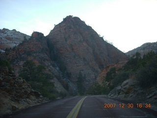 414 6cw. Zion National Park - driving on the road