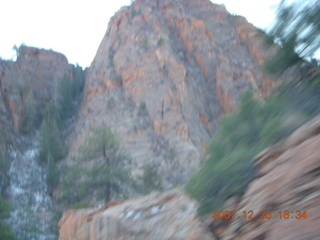 415 6cw. Zion National Park - driving on the road
