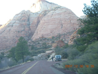 416 6cw. Zion National Park - driving on the road