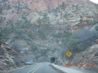 417 6cw. Zion National Park - driving on the road