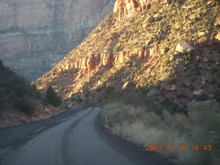 429 6cw. Zion National Park - driving on the road