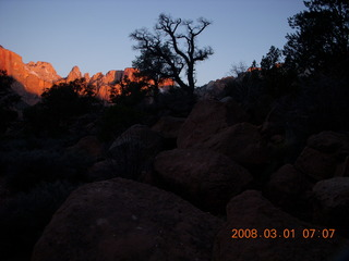 Zion National Park - Watchman hike - sunrisse