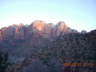 Zion National Park - Watchman hike - dawn