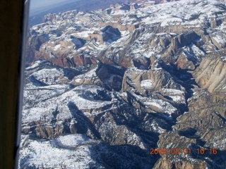 aerial - Zion National Park