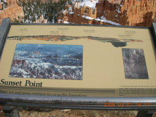 Bryce Canyon - Sunset Point - sign