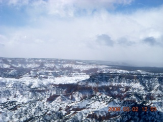 aerial - Bryce Canyon - mountain obscuration clouds