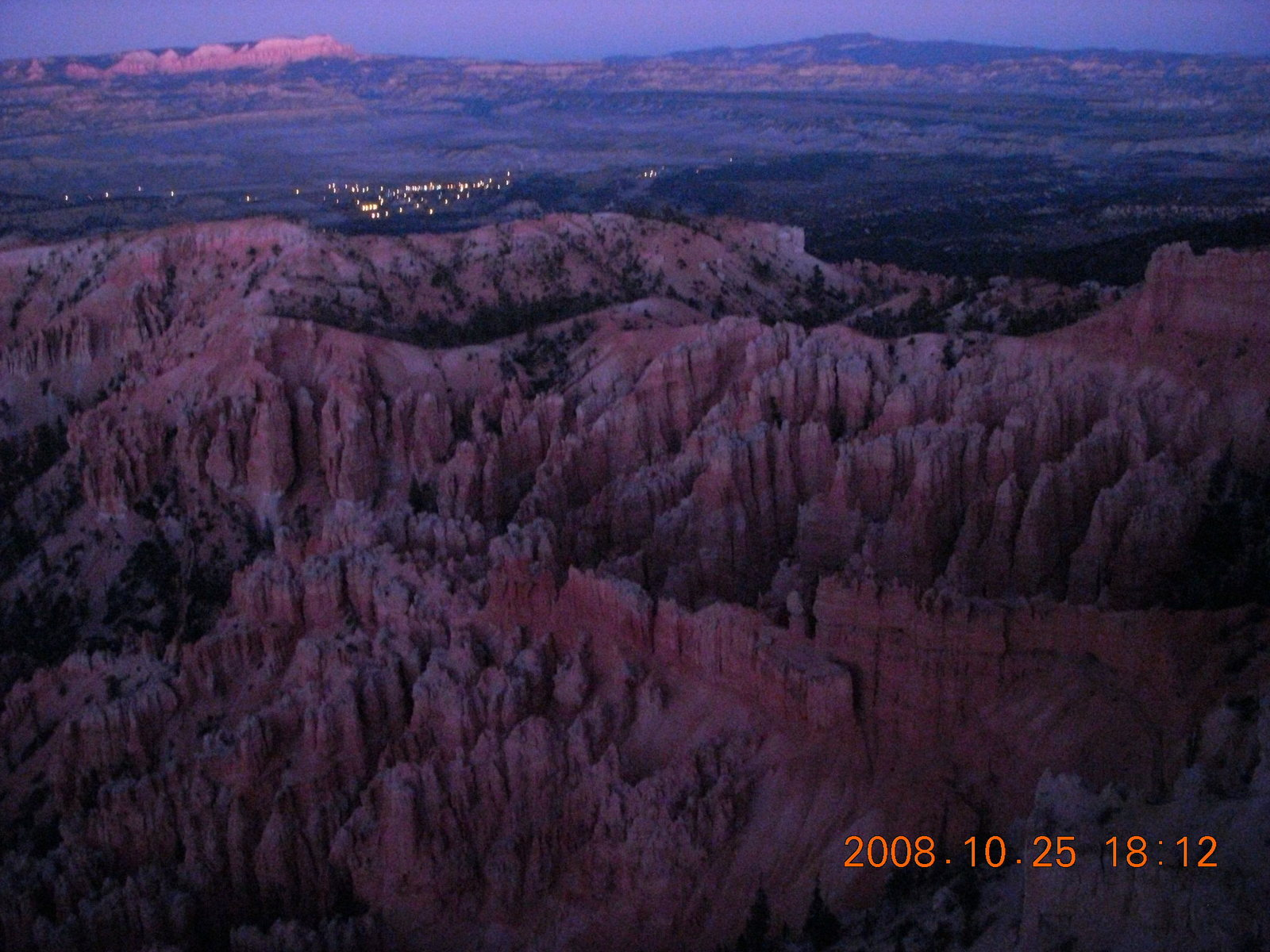 Bryce Canyon - sunset view at Bryce Point