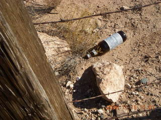 159 6pf. Verde Canyon - Sycamore Canyon Road run - beer bottle on side of road
