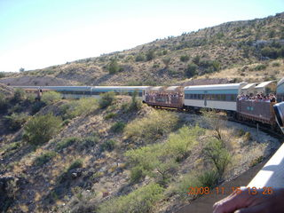240 6pf. Verde Canyon Railroad - train on curve