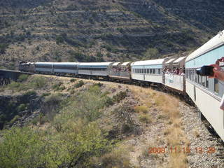 254 6pf. Verde Canyon Railroad - train on curve