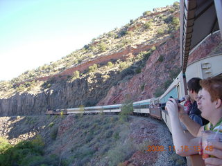272 6pf. Verde Canyon Railroad - train on curve