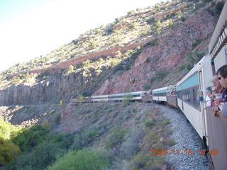 273 6pf. Verde Canyon Railroad - train on curve