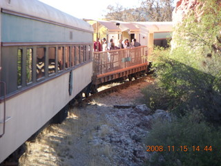 325 6pf. Verde Canyon Railroad - train on curve