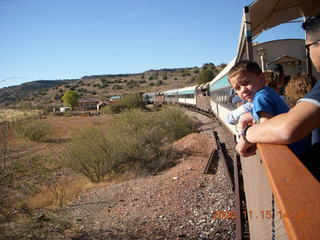 331 6pf. Verde Canyon Railroad - train on curve