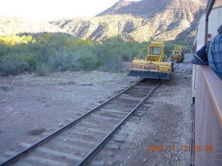 369 6pf. Verde Canyon Railroad - parallel rail and machines