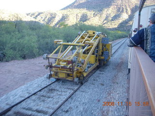 370 6pf. Verde Canyon Railroad - parallel rail and machines