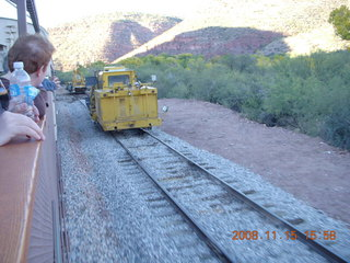 371 6pf. Verde Canyon Railroad - parallel rail and machines