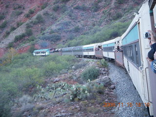 380 6pf. Verde Canyon Railroad - train on curve
