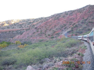 381 6pf. Verde Canyon Railroad - train on curve