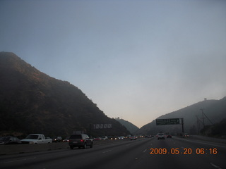 3 6vl. fog and low clouds clearing up on the way to Van Nuys