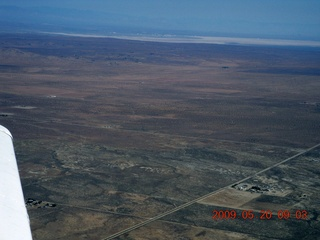 51 6vl. aerial - Edwards Air Force Base in the distance