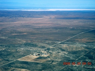52 6vl. aerial - Edwards Air Force Base in the distance