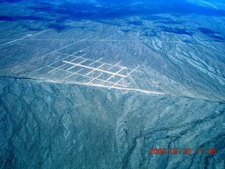 55 6vl. aerial - airport to come (?) near Lake Havasu