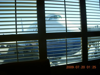 4 6xl. China eclipse - 747 through blinds