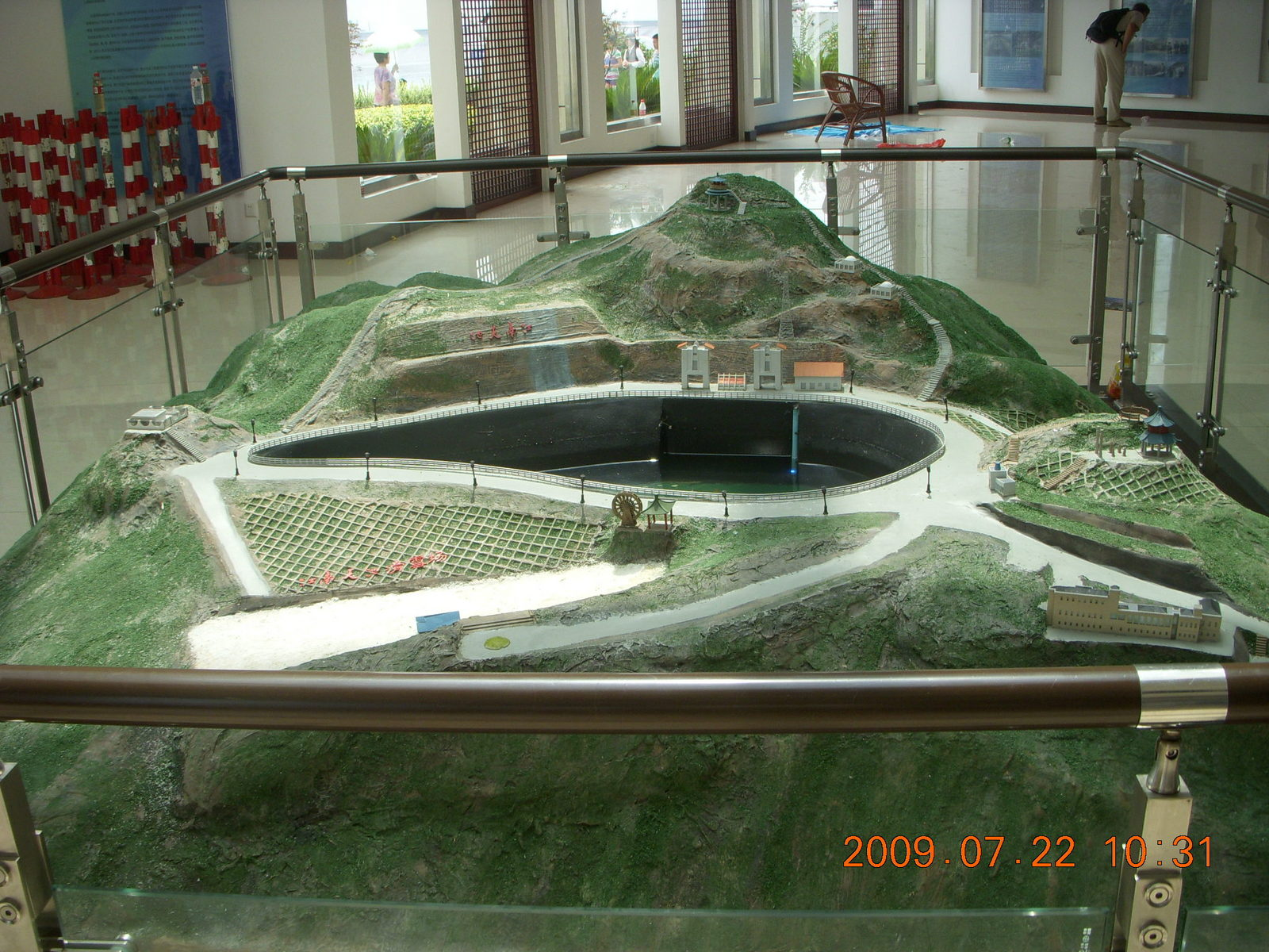 China eclipse - Anji eclipse site - model in building