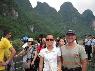 China eclipse - Li River  boat tour - Ling and Adam