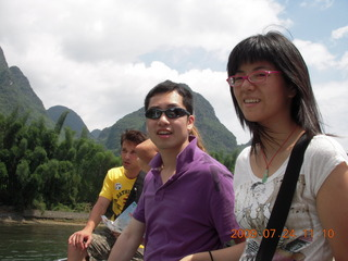 China eclipse - Li River  boat tour