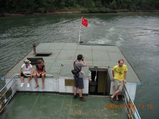 China eclipse - Li River  boat tour - lunch