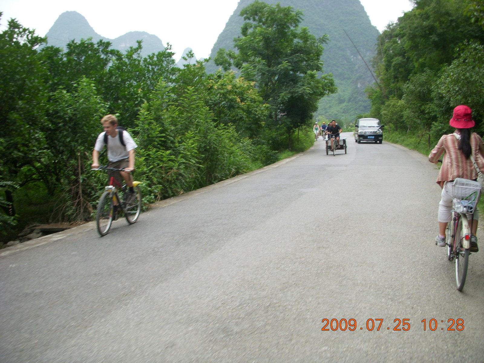 China eclipse - Yangshuo bicycle ride
