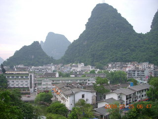 41 6xr. China eclipse - Yangshuo steps up the mountain