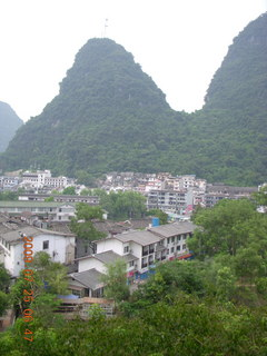 43 6xr. China eclipse - Yangshuo steps up the mountain