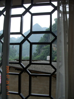 73 6xr. China eclipse - Yangshuo hotel view