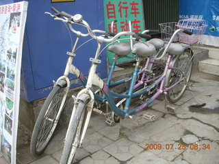 80 6xr. China eclipse - Yangshuo bicycle ride - tandem bikes