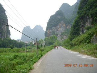 84 6xr. China eclipse - Yangshuo bicycle ride