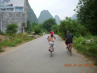 85 6xr. China eclipse - Yangshuo bicycle ride