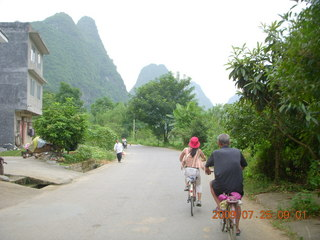 86 6xr. China eclipse - Yangshuo bicycle ride