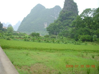 93 6xr. China eclipse - Yangshuo bicycle ride