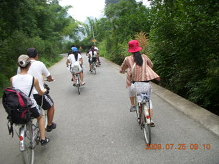 95 6xr. China eclipse - Yangshuo bicycle ride