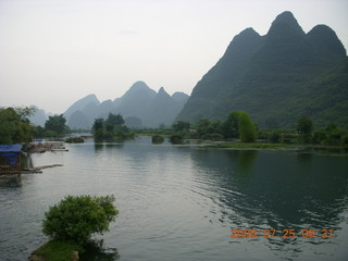 129 6xr. China eclipse - Yangshuo bicycle ride - walk to farm village