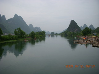 China eclipse - Yangshuo bicycle ride - walk to farm village